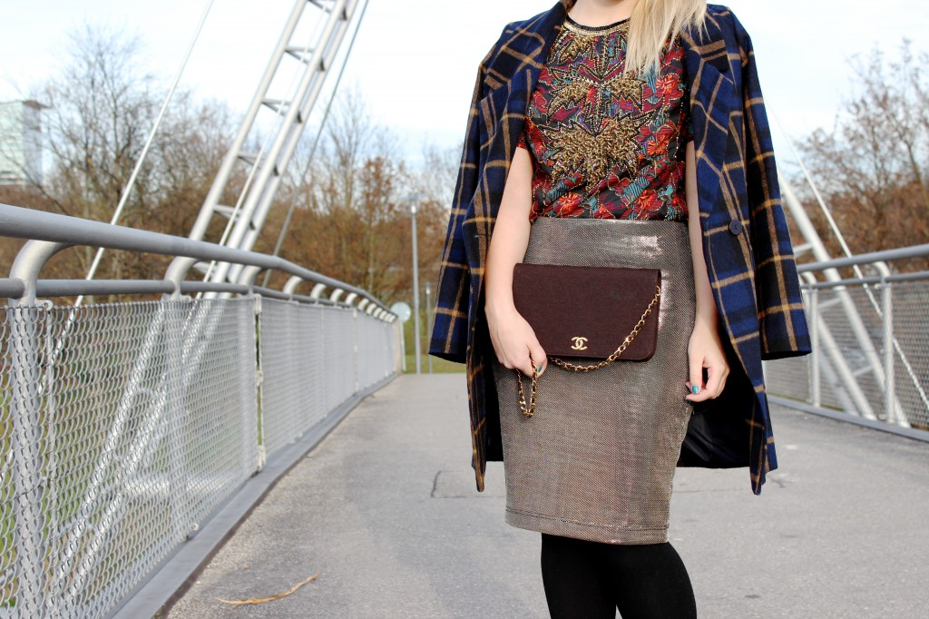 Skirt - Forever21 Blouse - Asos Shoes - Zara Coat - Asos Bag - Chanel